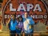 Viviann and Martin Cohen with a local in Lapa, Rio de Janiero